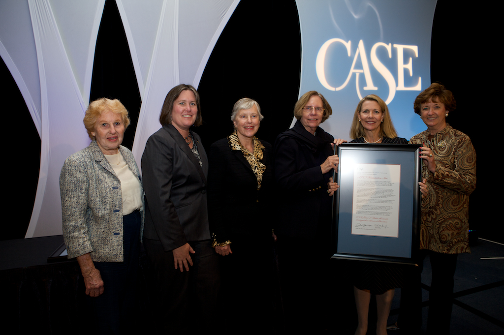 2009 Council for Advancement and Support of Education (CASE) presents the James L. Fisher Award